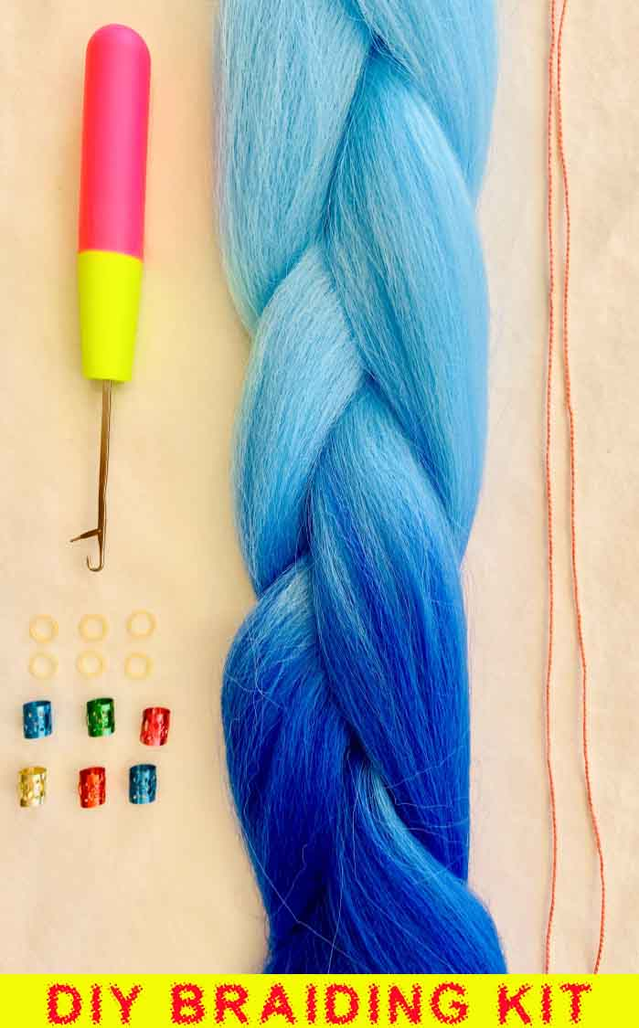 Double Dutch Braids and Mermaid Braids at home with this incredible DIY Braiding Kit